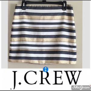 EUC J Crew fun striped skirt in size 4